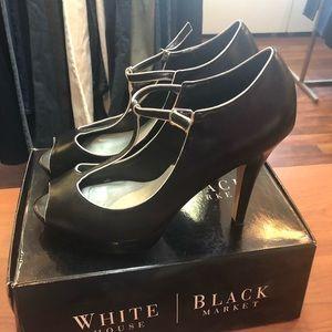 White House Black Market Leather Heels